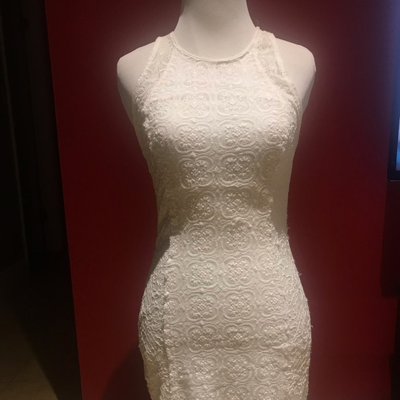 Abercrombie & Fitch Dresses & Skirts - A&F white lace racerback bodycon
